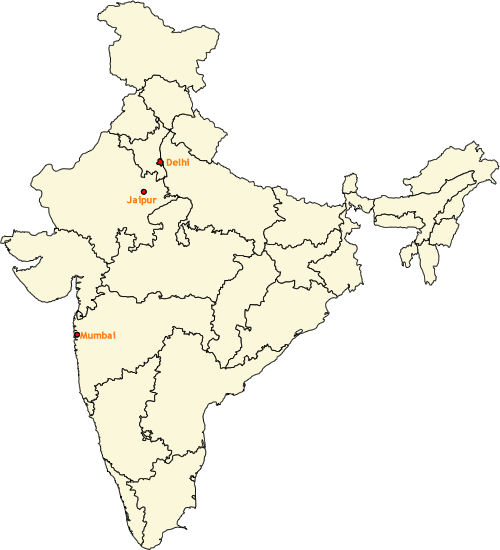 India Location Map for Gem Electromechanicals Pvt. Ltd.